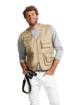 Ρουχα Εργασιας, φορμες εργασιας, στολες  της Γιλέκο τύπου reporter με πολλαπλές τσέπες (ΚΩΔ: 43630)