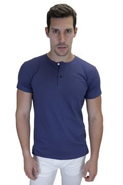 Ρουχα Εργασιας, φορμες εργασιας, στολες  της Ανδρικό t-shirt με διπλό κουμπί στη λαιμόκοψη (ΚΩΔ: NEW008)