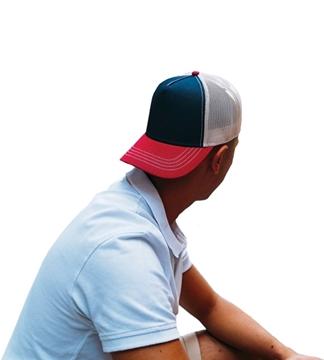 Ρουχα Εργασιας, φορμες εργασιας, στολες  της Πεντάφυλλο καπέλο τζόκεϊ με δίχτυ RAPPER CANVAS (ΚΩΔ: 0190537)