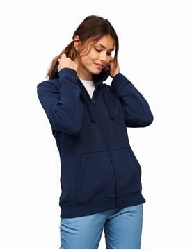 Ρουχα Εργασιας, φορμες εργασιας, στολες  της Γυναικεία ζακέτα φούτερ με κουκούλα SPIKE WOMAN (ΚΩΔ: 03106)
