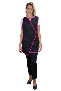 Ρουχα Εργασιας, φορμες εργασιας, στολες  της Μπλούζα γυναικεία αμάνικη δετή (ΚΩΔ: 1B1245BL)