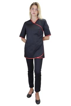 Ρουχα Εργασιας, φορμες εργασιας, στολες  της Σακάκι γυναικείο κοντομάνικο (ΚΩΔ: 1S1188BL)