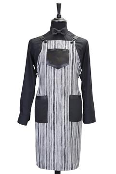 Ρουχα Εργασιας, φορμες εργασιας, στολες  της Ποδιά custom made υφασμάτινη χιαστή (ΚΩΔ: 1PSA069)