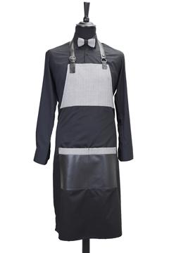 Ρουχα Εργασιας, φορμες εργασιας, στολες  της Ποδιά custom made υφασμάτινη δίχρωμη (ΚΩΔ: 1PSA071)
