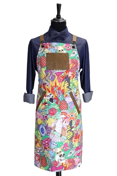Ρουχα Εργασιας, φορμες εργασιας, στολες  της Ποδιά στήθους printed custom made (ΚΩΔ: 1PSA075)