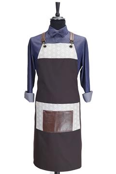 Ρουχα Εργασιας, φορμες εργασιας, στολες  της Ποδιά στήθους custom made χιαστή με κρίκο (ΚΩΔ: 1PSA080)