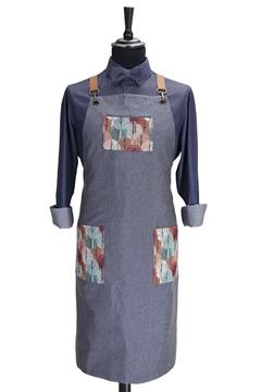 Ρουχα Εργασιας, φορμες εργασιας, στολες  της Ποδιά στήθους custom made χιαστή με κρίκο (ΚΩΔ: 1PSA081)