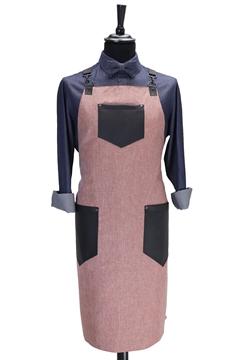 Ρουχα Εργασιας, φορμες εργασιας, στολες  της Ποδιά στήθους custom made χιαστή με κρίκο (ΚΩΔ: 1PSA082)