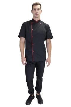 Ρουχα Εργασιας, φορμες εργασιας, στολες  της Μπλούζα μάγειρα με κοντό μανίκι (ΚΩΔ: 1S3051)