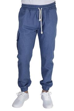Ρουχα Εργασιας, φορμες εργασιας, στολες  της Παντελόνι τζιν με λάστιχο στην μέση & πόδια (ΚΩΔ:1TL001)