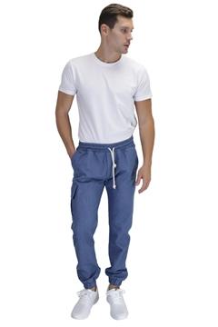 Ρουχα Εργασιας, φορμες εργασιας, στολες  της Παντελόνι τζιν με λάστιχο στην μέση & πόδια (ΚΩΔ:1TL001B)