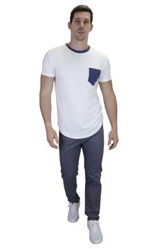 Ρουχα Εργασιας, φορμες εργασιας, στολες  της Ανδρικό t-shirt με διχρωμία και στρογγυλό τελείωμα (ΚΩΔ: NEW002BH)