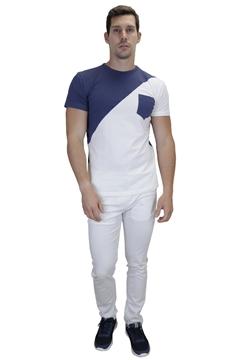 Ρουχα Εργασιας, φορμες εργασιας, στολες  της Ανδρικό t-shirt με oblique σχέδιο (ΚΩΔ: NEW005BH)