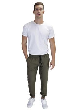 Ρουχα Εργασιας, φορμες εργασιας, στολες  της Παντελόνι λινό με λάστιχο στην μέση & πόδια (ΚΩΔ: 1TL003BH)