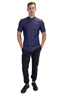 Ρουχα Εργασιας, φορμες εργασιας, στολες  της Σακάκι τζιν με ελαστική αεριζόμενη πλάτη (ΚΩΔ: 1S1138)