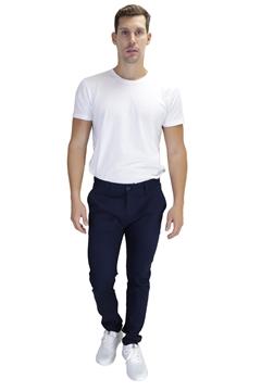 Ρουχα Εργασιας, φορμες εργασιας, στολες  της Παντελόνι τσίνος από ελαστική καπαρντίνα σε μπλε σκούρο χρώμα (ΚΩΔ: 1PLA003)