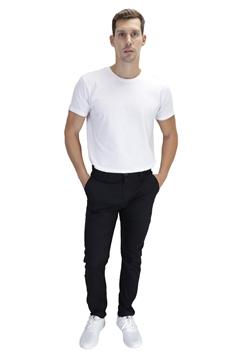 Ρουχα Εργασιας, φορμες εργασιας, στολες  της Παντελόνι τσίνος από ελαστική καπαρντίνα σε μαύρο χρώμα (ΚΩΔ: 1PLA004)