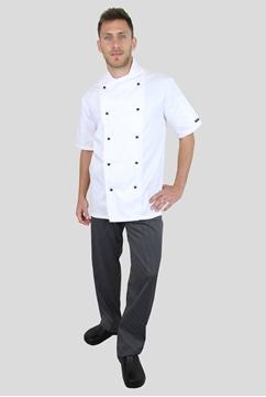 Ρουχα Εργασιας, φορμες εργασιας, στολες  της Σακάκι μάγειρα με κοντό μανίκι (ΚΩΔ: C734W)