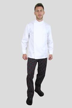 Ρουχα Εργασιας, φορμες εργασιας, στολες  της Σακάκι μάγειρα με εσωτερικές κόπιτσες (ΚΩΔ: C730W)