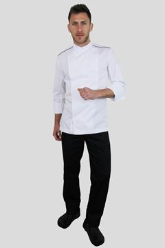 Ρουχα Εργασιας, φορμες εργασιας, στολες  της Σακάκι chef slim fit με σκρατς και ελαστικό αναπνέον ύφασμα (ΚΩΔ.:1S1157W)
