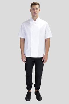 Ρουχα Εργασιας, φορμες εργασιας, στολες  της Σακάκι μάγειρα με κοντό μανίκι και τρούκ BASIL (ΚΩΔ: 50-321-5W)