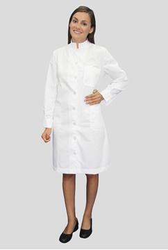 Ρουχα Εργασιας, φορμες εργασιας, στολες  της Ρόμπα ιατρική γυναικεία με όρθιο γιακά (ΚΩΔ: 1B121)
