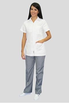Ρουχα Εργασιας, φορμες εργασιας, στολες  της Σακάκι γυναικείο με φερμουάρ (ΚΩΔ: 1S142)
