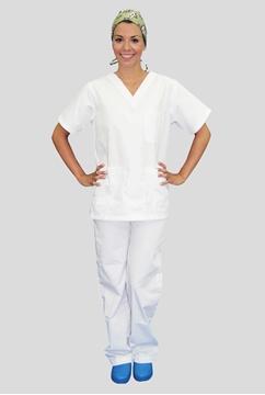 Ρουχα Εργασιας, φορμες εργασιας, στολες  της Κουστούμι λευκό νοσηλευτικό (ΚΩΔ: 3Z101)