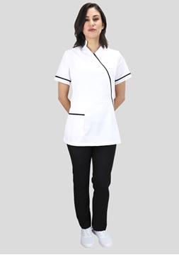 Ρουχα Εργασιας, φορμες εργασιας, στολες  της Σακάκι γυναικείο με λοξό φερμουαρ (ΚΩΔ:1S1190)