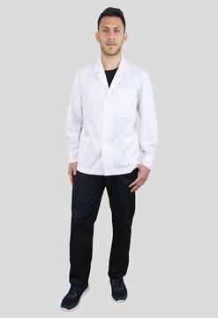 Ρουχα Εργασιας, φορμες εργασιας, στολες  της Σακάκι ανδρικό λευκό με πέτο γιακά μακρύ μανίκι (ΚΩΔ.1S203)