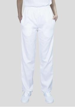 Ρουχα Εργασιας, φορμες εργασιας, στολες  της Παντελόνι λευκό με λάστιχο (ΚΩΔ:1T106AB)